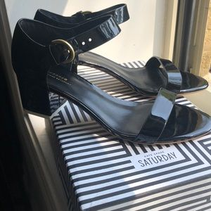 Kate Spade black heels / sandal NEVER WORN!